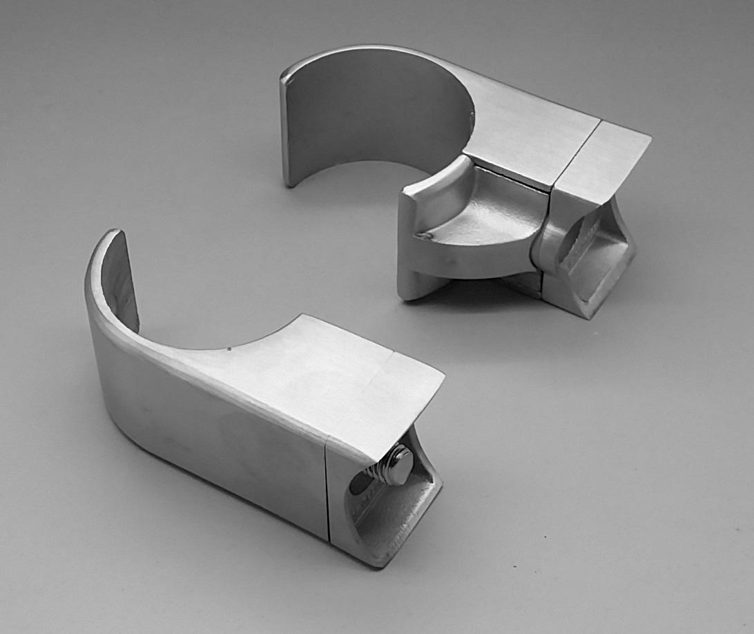 rohr halter pfosten v2a 42 4 edelstahl gel nder easyhold. Black Bedroom Furniture Sets. Home Design Ideas